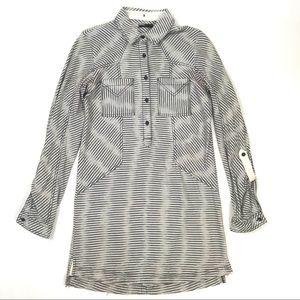 BDG Small Striped Long Sleeve Tunic T Shirt Dress
